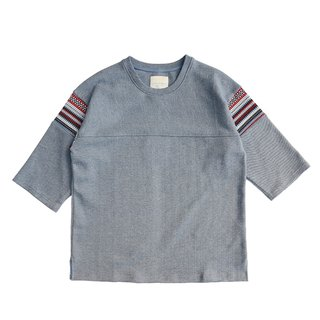 Knitted Jacquard Waist-Length T-shirt