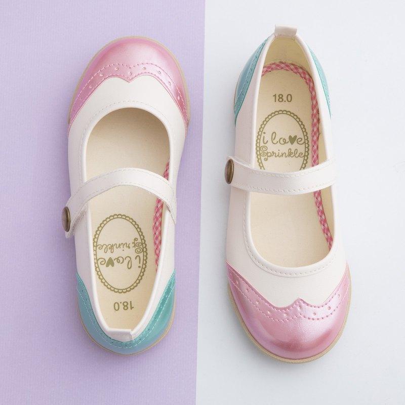 Fay獨角獸粉嫩色系牛津娃娃鞋