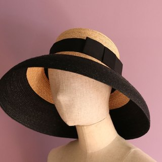 "Casablanca style straw hat ""Two Tone Holly"""