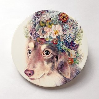 Mr. Sausage - Ceramic coaster