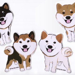 Shiba Inu Large Sticker Choose 1 Sticker Waterproof