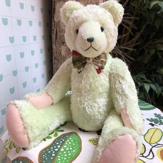 Handmade teddy bear is refreshing light green 50cm, only one left in stock