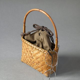 Small basket bag bamboo