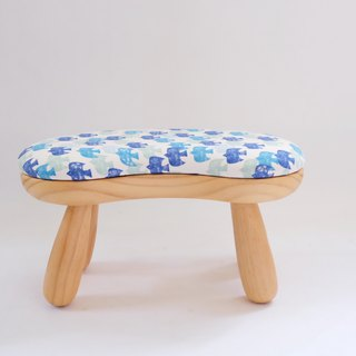Bean chair - white bird pattern