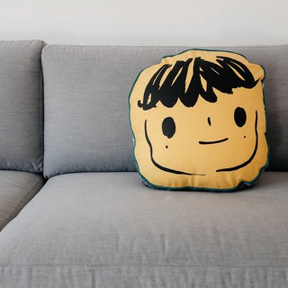 Brut Cake hand-crafted cushion pillow pillow (4) _ cute hand-painted _ screen printing _ hand-sewn _ warm embracing smiling face