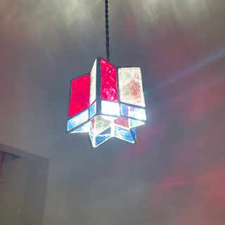 Twinkle night star pendant light red glass Bay View