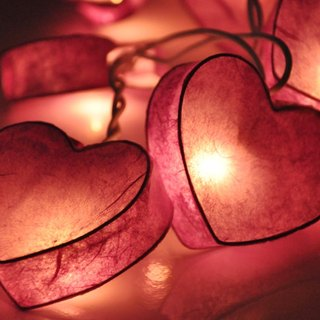 20 LED Battery Powered Purple Heart Paper Lantern String Lights for Home Decoration Wedding Party Bedroom Patio and Decoration