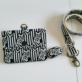 Mini bear hand made zebra multi-function small card package + special with the same paragraph hanging lanyard exclusive
