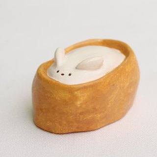 Handmade  Soybean Sushi rabbit  of clay doll