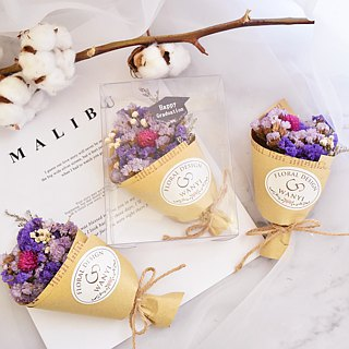 WANYI Elegant Cute Small Bouquet Dry Flower / Eternal Flower / Graduation Gift