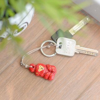The lucky red monkey key chain(key ring) from Niyome Clay