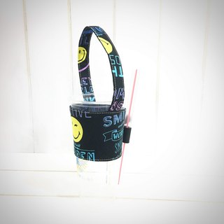 |R• | Cotton cloth | Green Cup/Drink bag/Hand cup beverage bag | SMILE smiles to meet every day