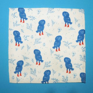Towel Square Series Blue Owl