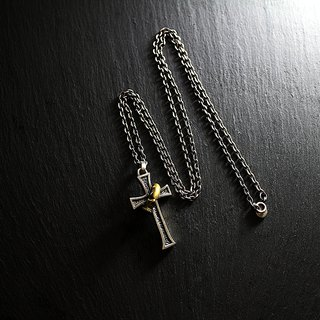Rebirth sterling silver cross necklace