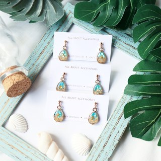 Ocean collection :  little drop in the ocean earrings
