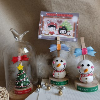 sleeping original handmade Christmas day, I love you Christmas Confession I love you [snowman] notes clip