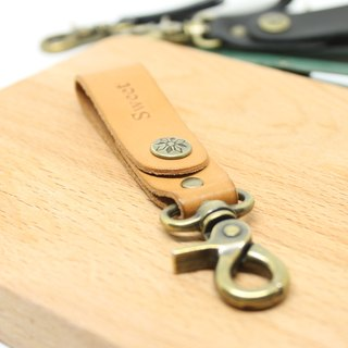 [Butterfly hand made leather goods] Replica key ring (free branding service).