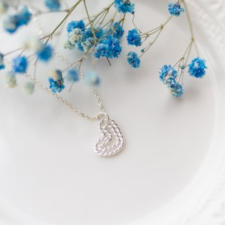 Heart and silver sterling silver necklace