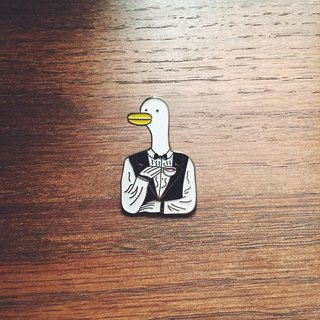 #10 The Waiter Duck Pin/Brooch