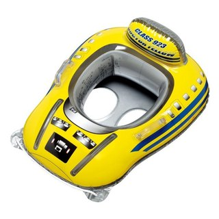 Japanese IGARASHI JR Shinkansen infant solid seat - Bright yellow water inflatable mount / riding / row / mattress / swimming ring / floating boat