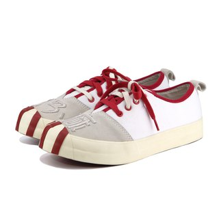 Gan Ma M1177 WhiteRed Suede leather Sneaker