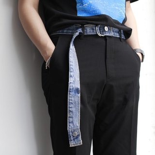 Denim remade belt