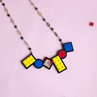 LEGO Necklaces Mondrian Geometric Combinations