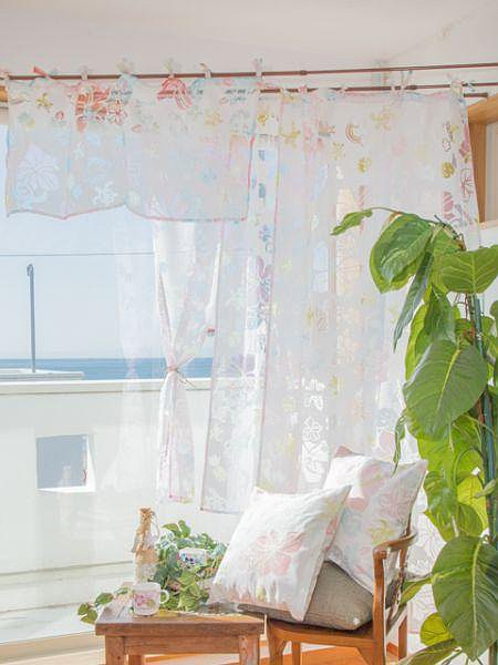 Hawaiian Short Sheer Curtain