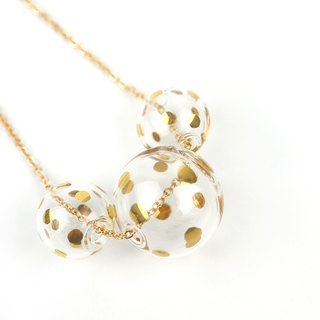 BACI GOLD DOTS - Gold-paint polka dots bubbles necklace
