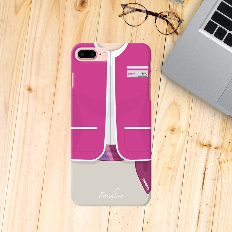 Japan Peach Aviation Air Hostess Fight Attendant Purple iPhone Samsung Case