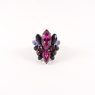 Classical luxury handmade ring / purple peach