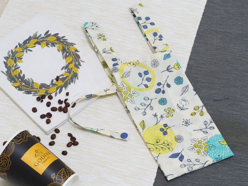 [Gi LAI]Environmental Beverage/Food Bag-Yellow Wreath-