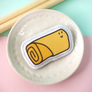 Snack Series - (spring rolls) cloth brooch / badge (BDS15)