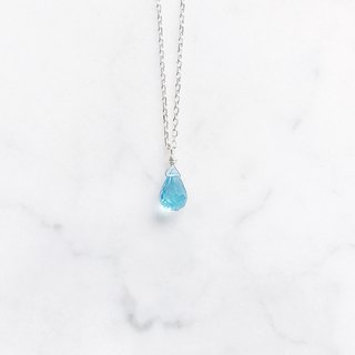 ::Silver Mine Series - Limited Edition:: Blue Topaz sterling silver low light cutting clavicle chain
