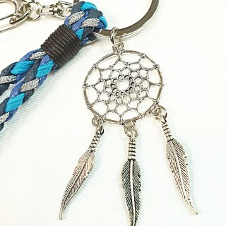 Paris*Le Bonheun. Happy hand made. ZAKKA Dream Catcher. Braided key ring. White K color