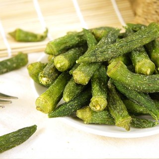 【Afternoon snacks light】 delicious wild vegetables Okra crisp (80g / bag)