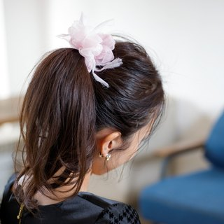 mini_Milkvetch : Blooming Sakiami Colourful Hair Scrunchy / Hair Accessory