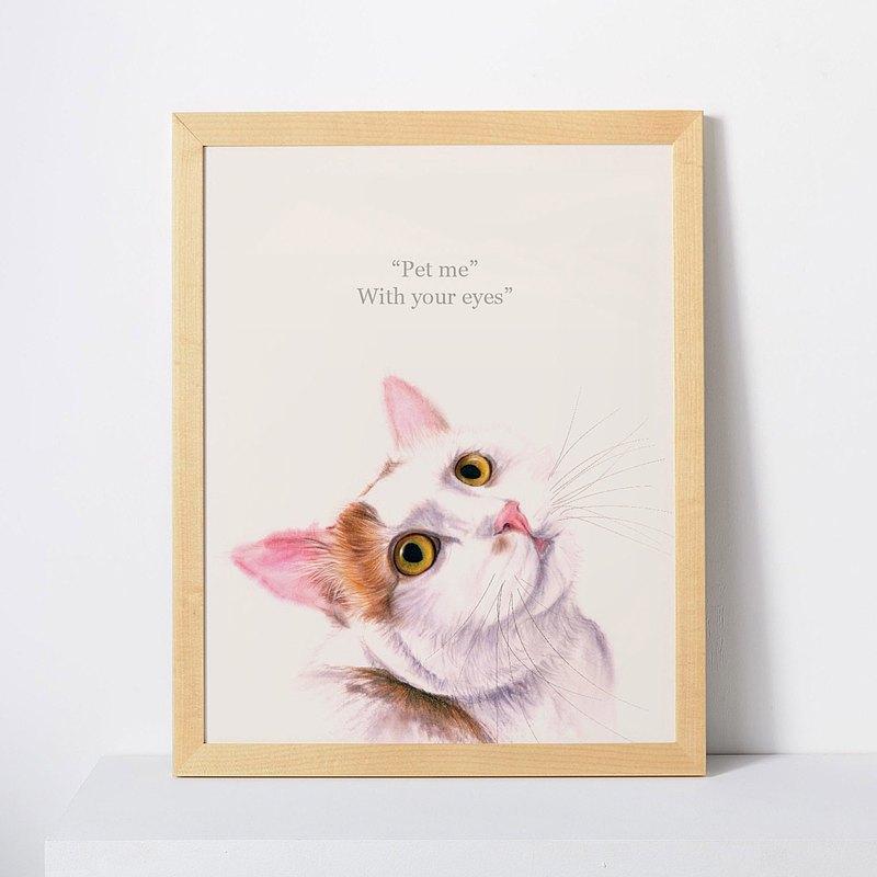 貓思貓言喵語11x14英寸裝飾畫 給貓咪貓奴的禮物 日本短尾