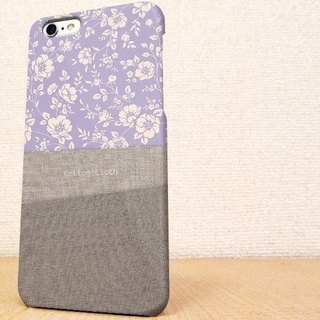 (Free shipping)iPhone case GALAXY case ☆Cotton Clothと花柄 スマホケース