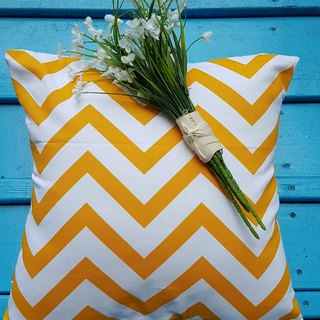 Nordic style yellow geometric pattern pillow / cushion
