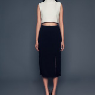 Aimee Pencil Skirt in Navy