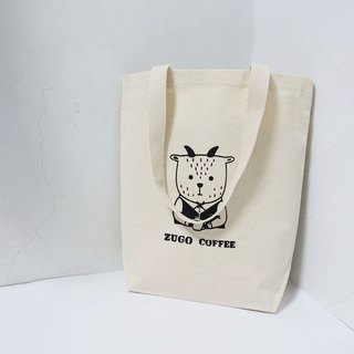 Screen printing  Tote bag   Mr. Fat goat  Drink coffee