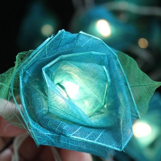 35 Romance Blue Rose String lights for Patio,Wedding,Party and Decoration