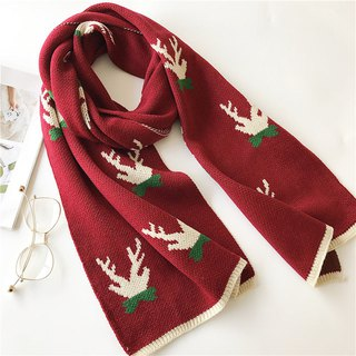 Christmas gift customizable embroidered lettering scarf shawl Valentine's Day gift birthday gift deer