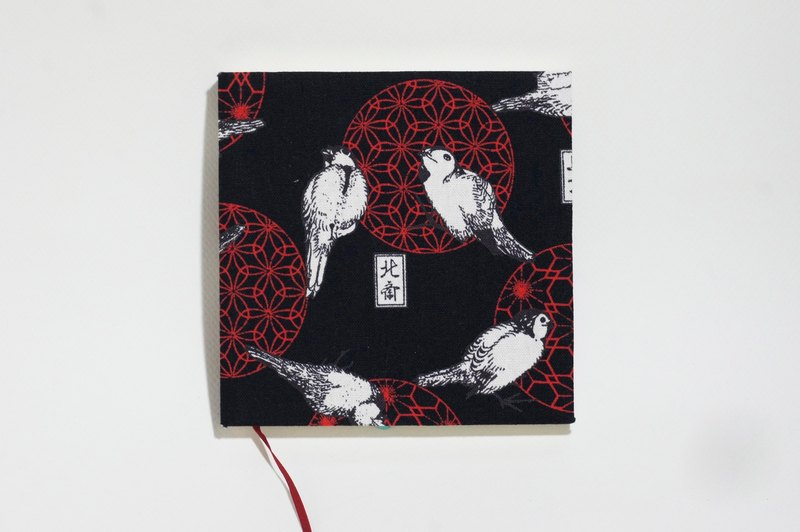 Cloth - Handmade Cloth Notebook - Wire Closets - Japanese Blackbird (S)