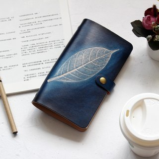 Mountain sea blue leaves A5 A6 A7 loose-leaf notebook handmade leather notepad Christmas gift