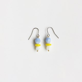 Glacier natural stone glass beaded earrings