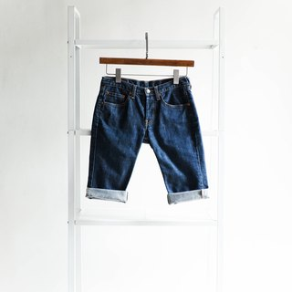 River water - levis 540 / W25 indigo dark blue youth and cotton tannin antique pants ancient denim pants vintage