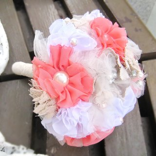 Wedding fabric flower bouquet, bridal bouquet, briidesmaid bouquet B003