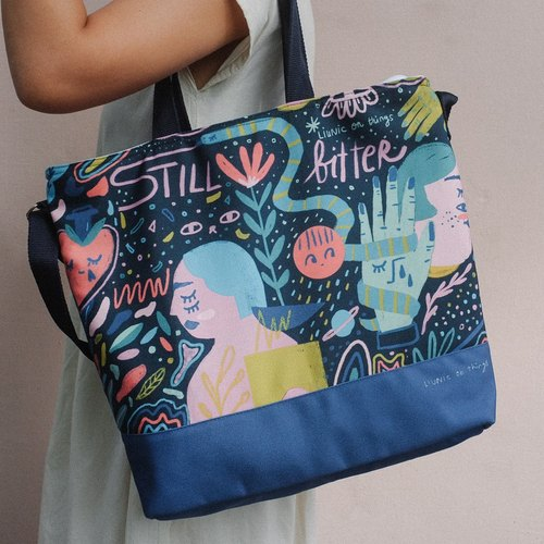 Still Bitter Weekender Totebag - Black